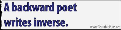A backward poet