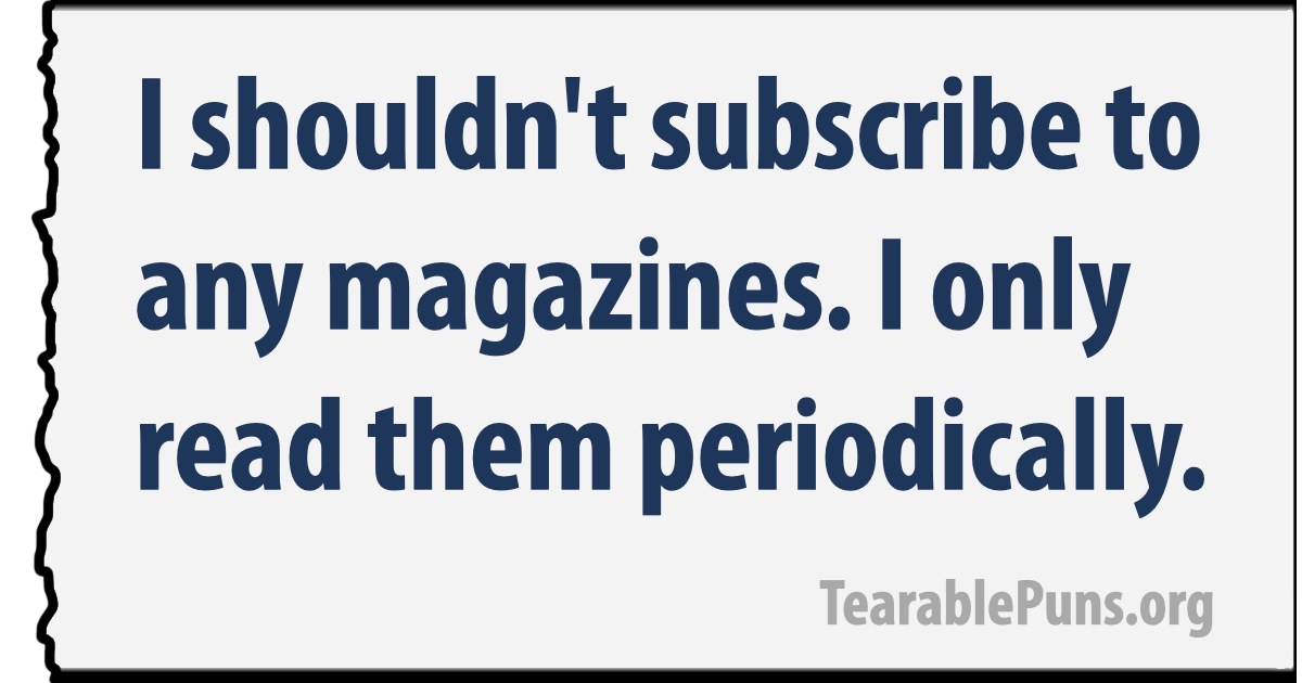 I shouldn't subscribe