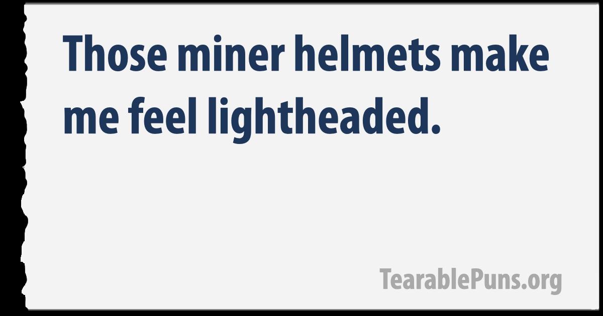 miner helmets