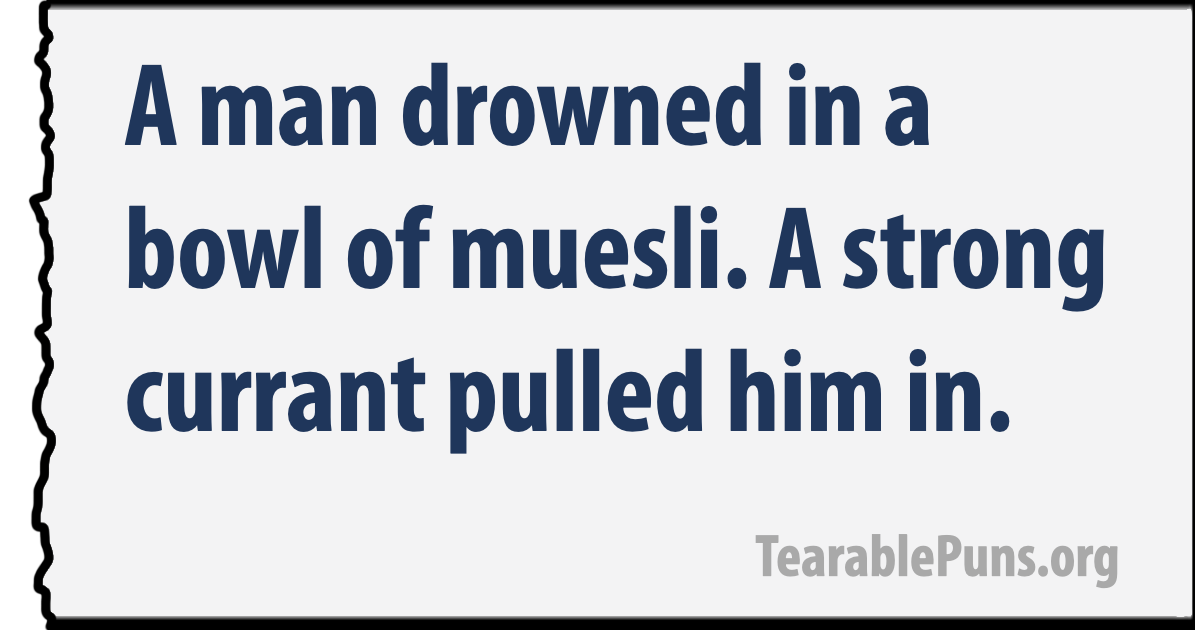 a man drowned