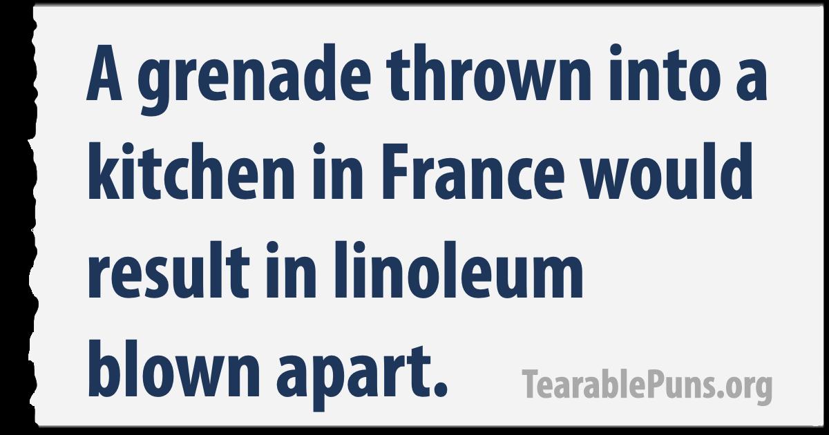 A grenade thrown