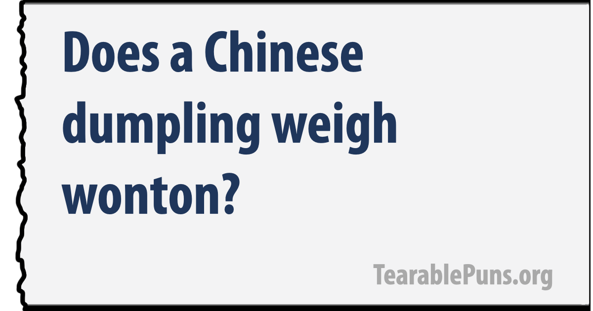 Does a Chinese dumpling
