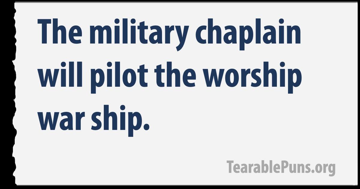 The military chaplain