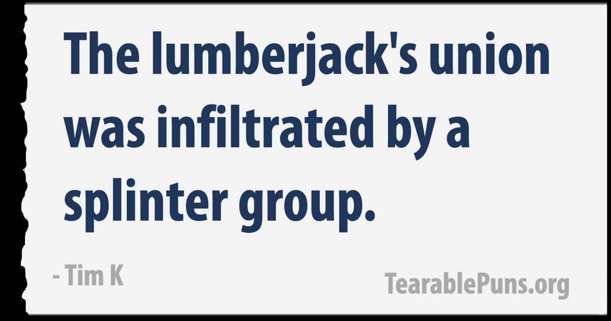the lumberjack's union