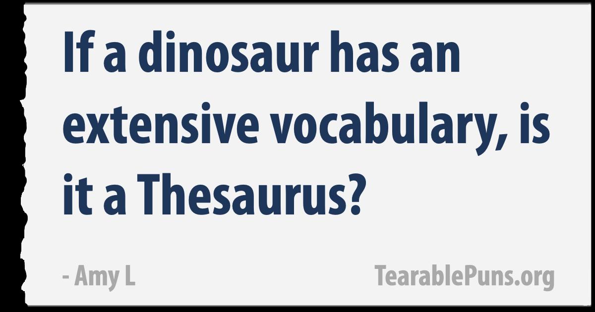 If a dinosaur has